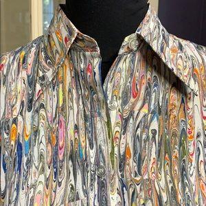 🎨JOSEPH MAGNIN🎨fitted shirt